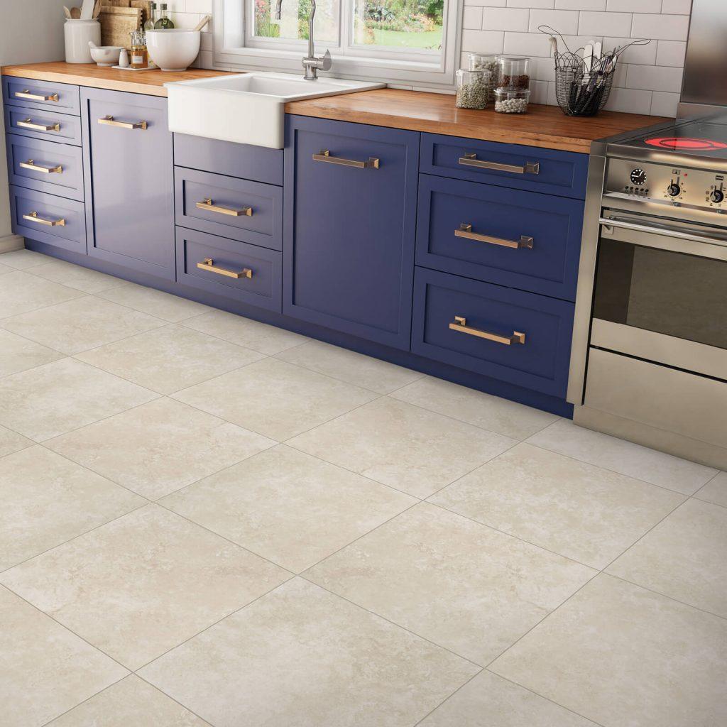Mohave desert tile in kitchen | Flowers Flooring