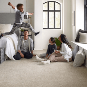 Family enjoying on Carpet | Flowers Flooring