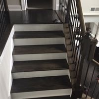 Hardwood Flooring on stairs | Flowers Flooring