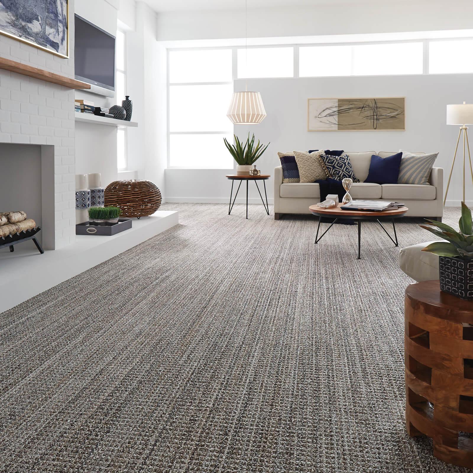 Carpet flooring in living room | Flowers Flooring