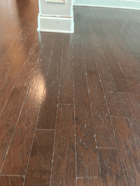 Before Sand Free Refinishing Hardwood Restoration