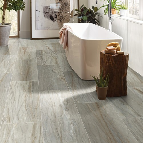 Tile in bathroom | Flowers Flooring