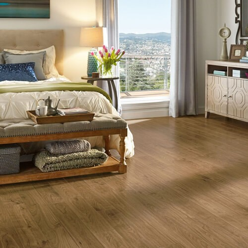 Urban Walnut Laminate- Scraped Natural | Flowers Flooring