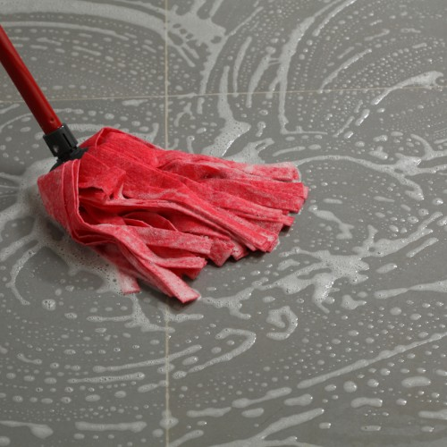 Mopping tile flooring | Flowers Flooring