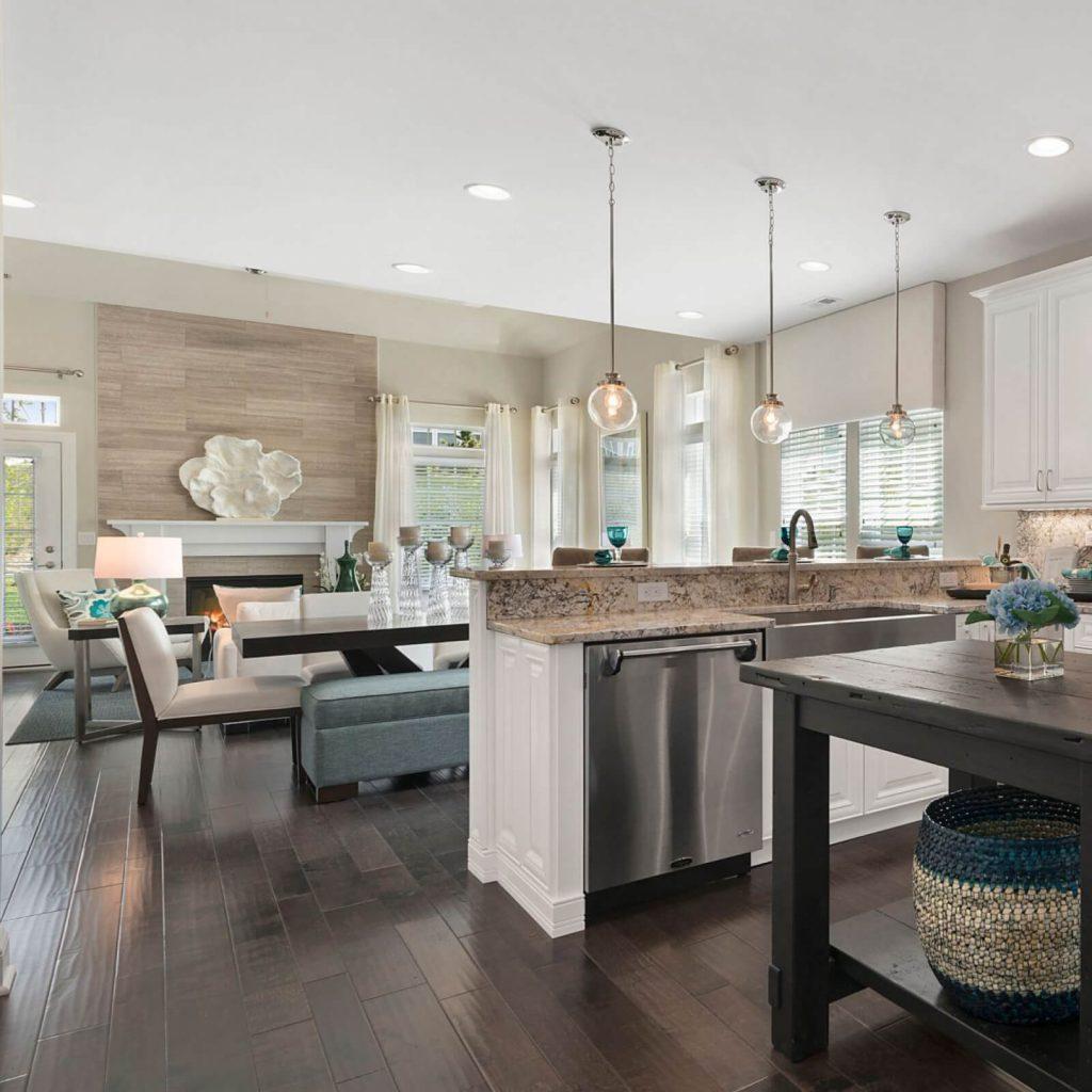 Hardwood flooring in kitchen | Flowers Flooring