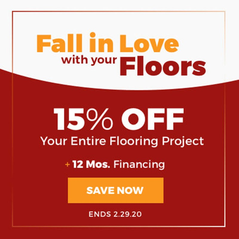 Fall in love with your floors banner | Flowers Flooring