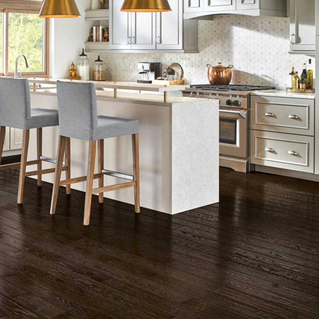 Oak hardwood with dark stain | Flowers Flooring