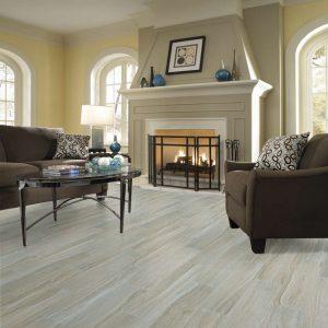 natural tile in living room