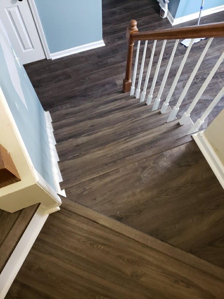 hardwood stairs | Flowers Flooring