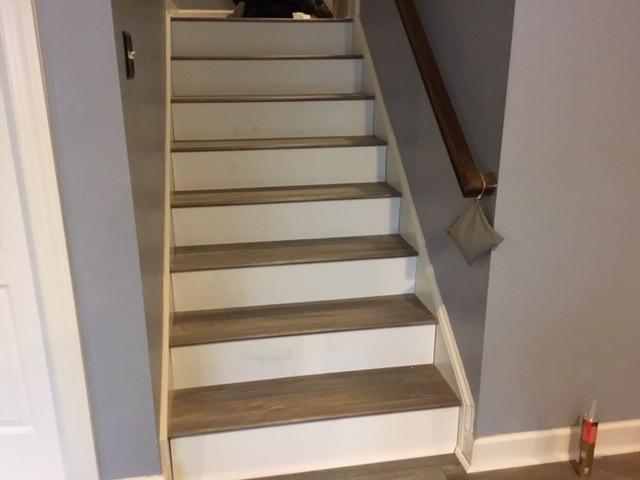 Vinyl Plank Stairs Cornelius, NC | Flowers Flooring