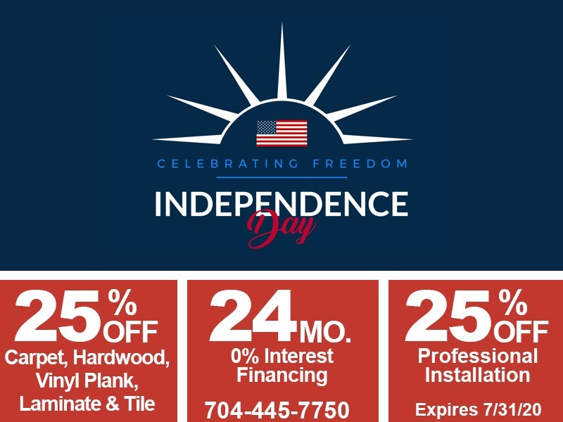 independence day sale mobile graphic | Flowers Flooring