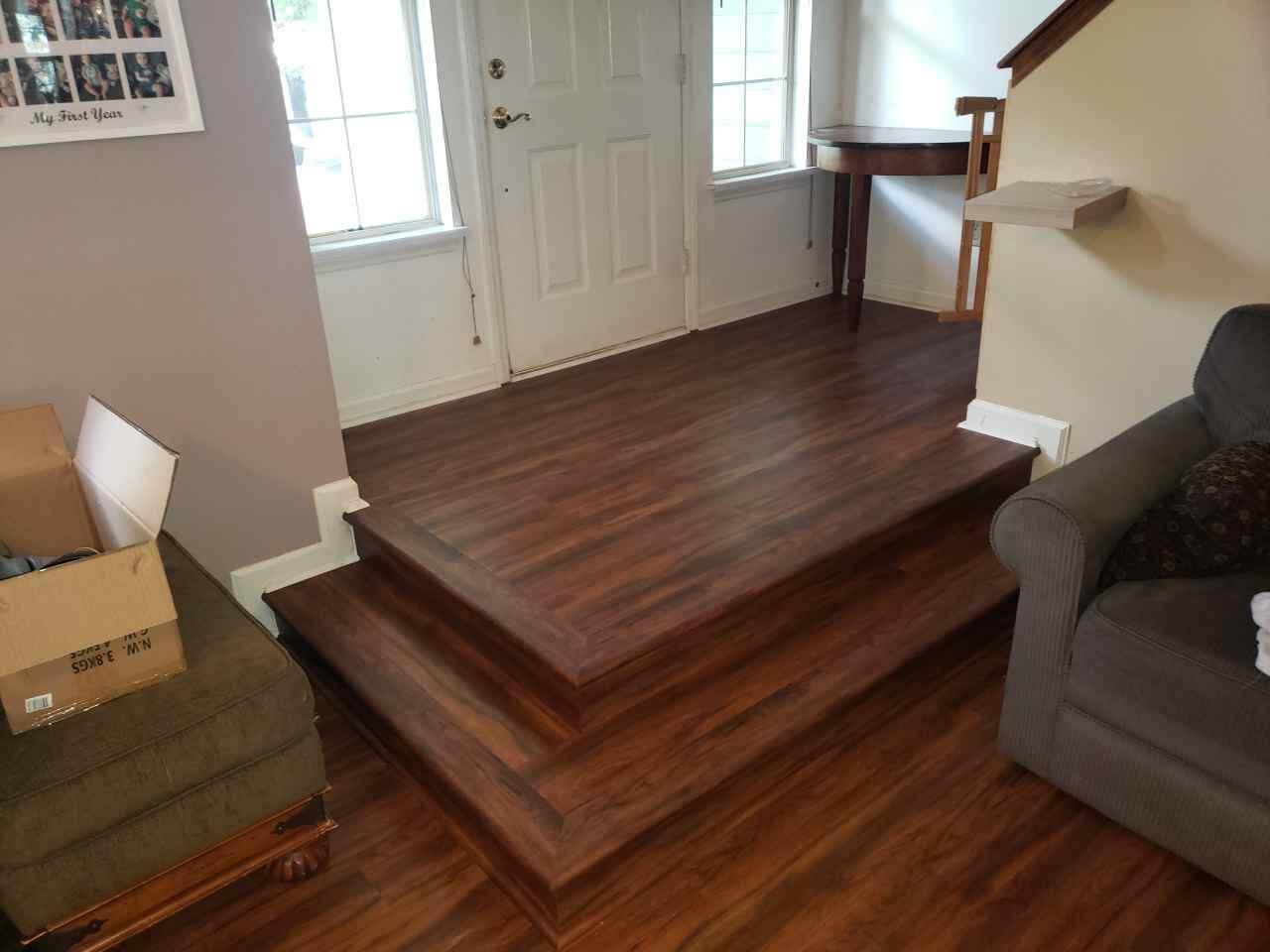 Vinyl Plank Stair Treads | Flowers Flooring