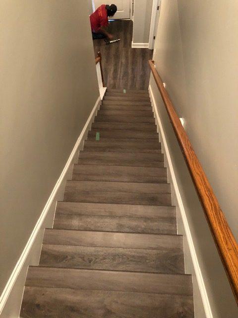 Vinyl Plank Stairs 2 7.21.20 | Flowers Flooring