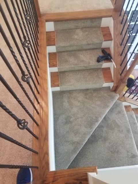 Carpet Stair Runner 1 8.20.20 | Flowers Flooring
