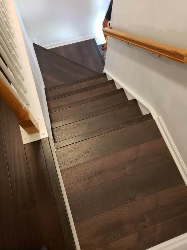 Hardwood stairs 1 8.19.20 | Flowers Flooring