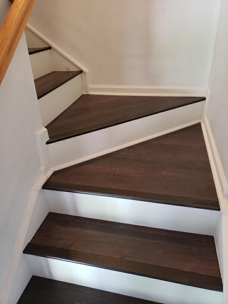 Hardwood stairs 2 8.19.20 | Flowers Flooring