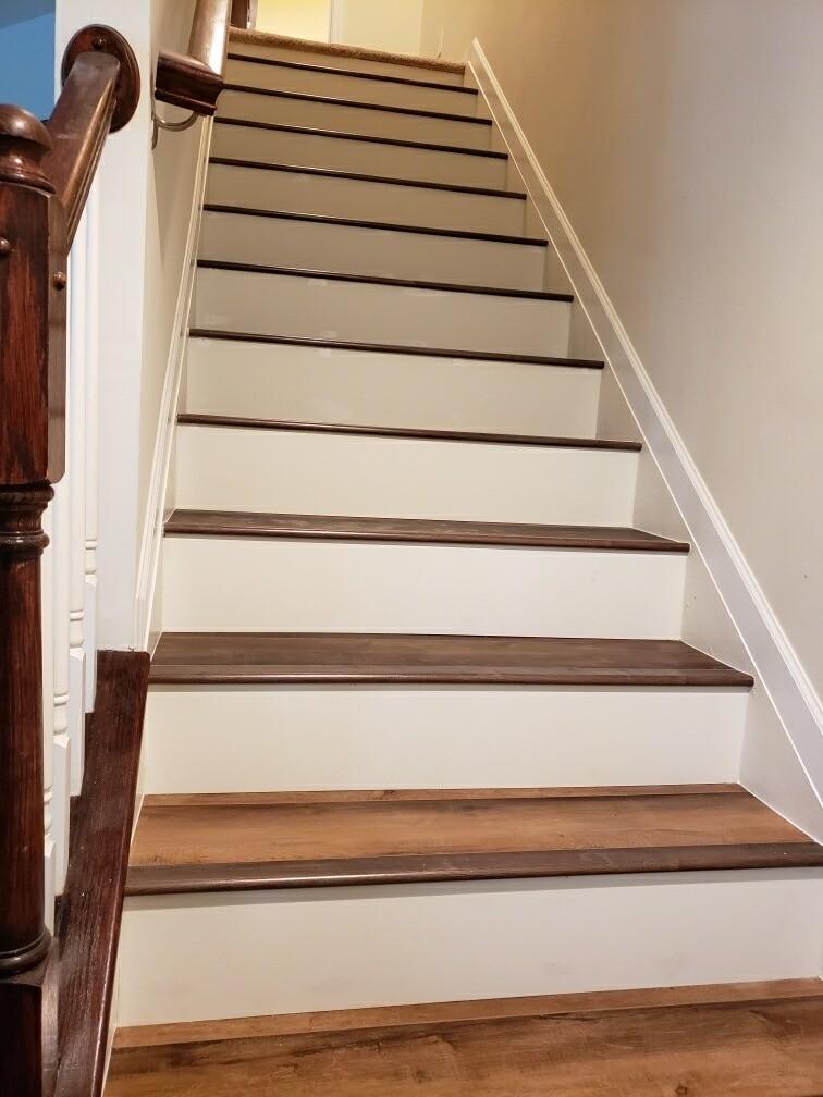 Vinyl Plank Stairs | Flowers Flooring