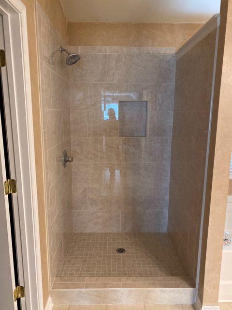 Tile Shower | Flowers Flooring