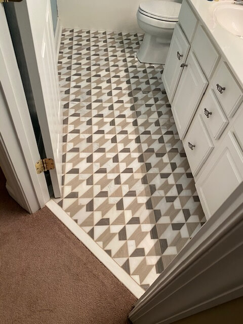 Spring Bathroom Spruce up with New Tile | Flowers Flooring