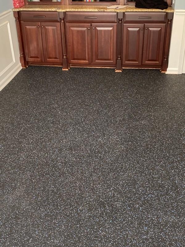 Rubber Fitness Flooring for Peloton Bikes & Gym Equipment at Home | Flowers Flooring